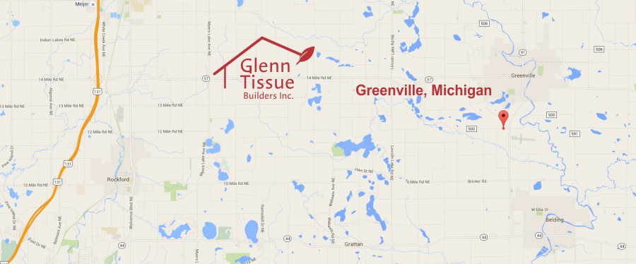 Glenn Tissue Builders map